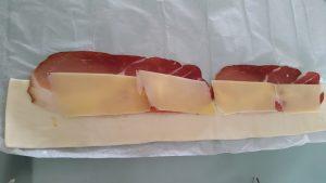 Blätterteigrose mit käse