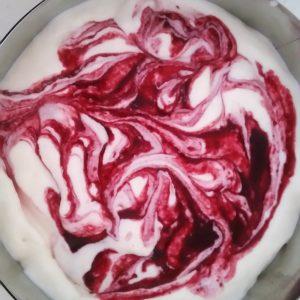 Joghurt Sahne Creme marmoriert