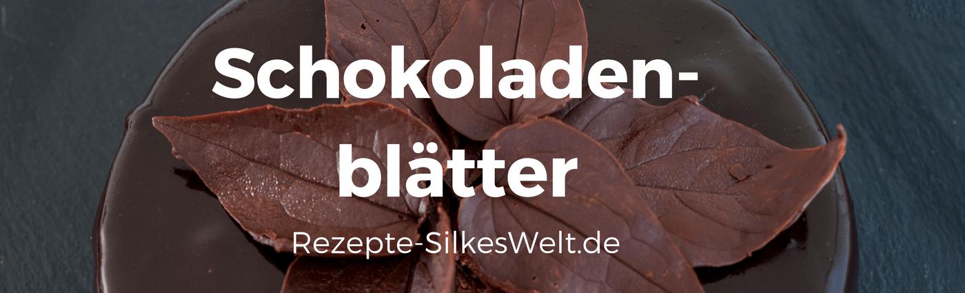Schokoladenblätter Deko