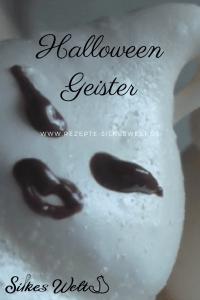 Halloweengeister aus Eiweiß