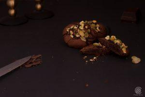 Schokoladen Cookie mit Pistazie