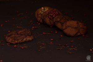 Schokoladen Cookie mit verschiedener Deko und Geschmacksrichtung