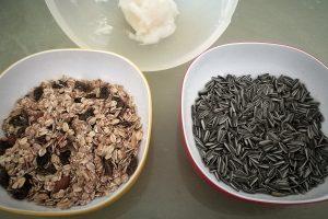 Vogelfutter aus der Küche Zutaten