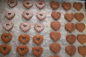 Linzerplätzchen frisch gebacken