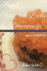 Snack Rösti mit Lachs und Limonendip
