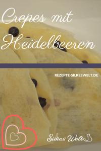 snack crepes mit Heidelbeeren