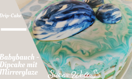 Mirror Glaze Torte in Blau