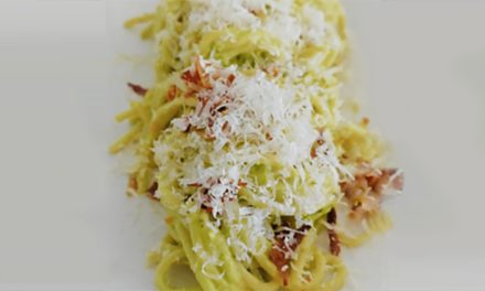 Spaghetti Avocado Carbonara