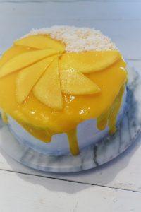 Die Mango-Marshmellow Torte.