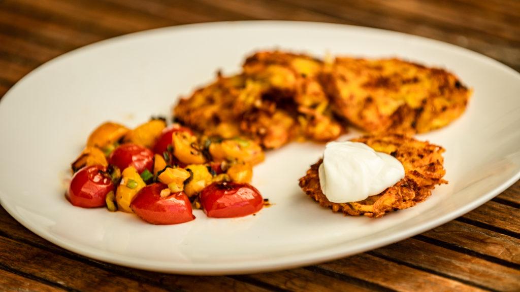 Zucchini Kartoffel-Puffer Rezept vegan
