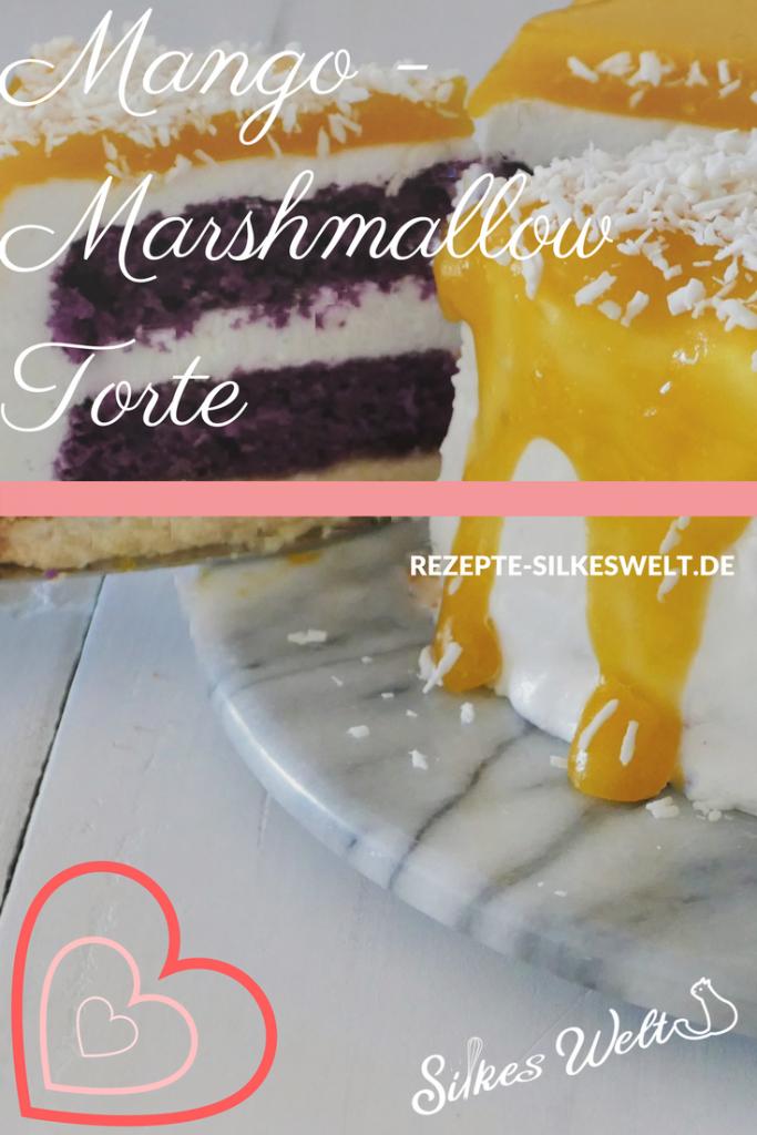 Mango Marshmallow Torte Mit Ube Pulver Ein Exotischer Traum Auf