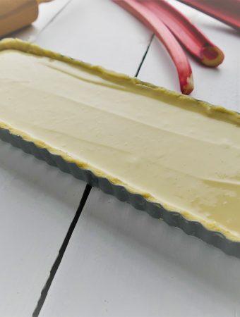 rhabarbertarte cheesecake ungebacken