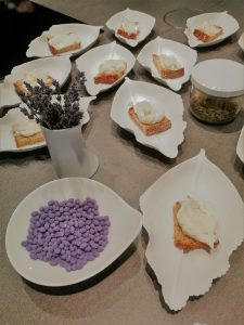 Appetizer Brot, Butter mit Lardo