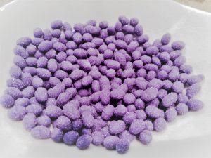 kristalisierte Lavendelperlen