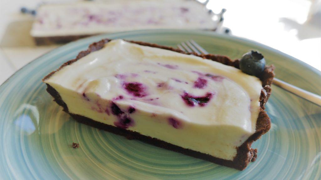 Heidelbeer Cheesecake Tarte