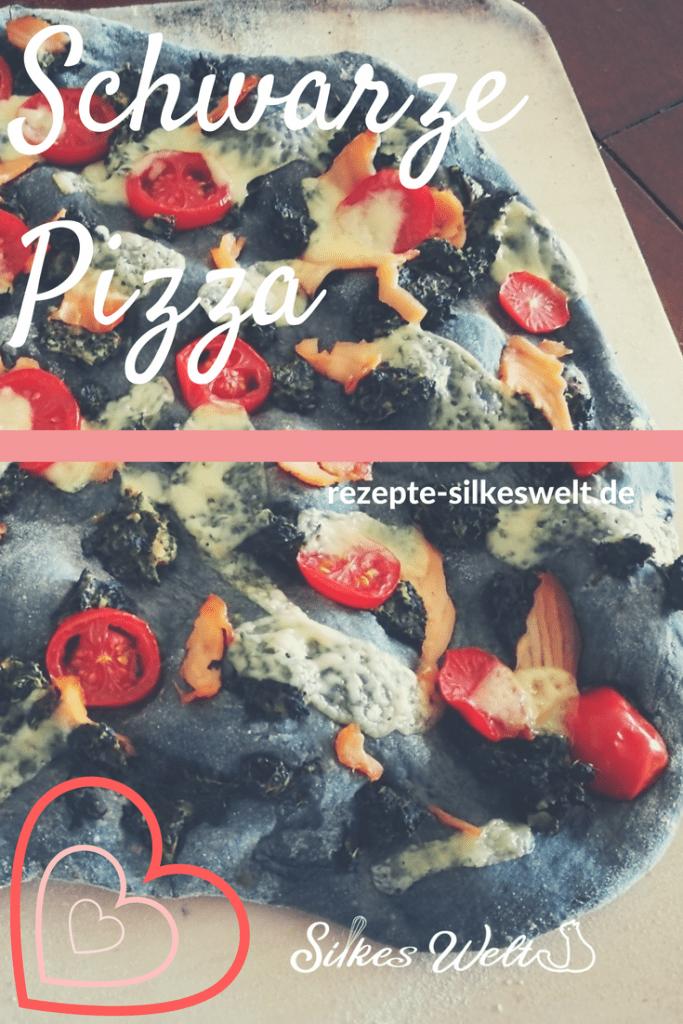 schwarze Pizza