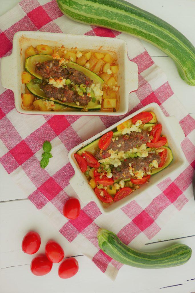 Zucchini in Auflaufform