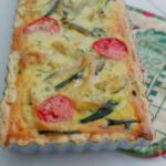 Zucchinitarte gebacken