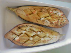 Aubergine gebacken