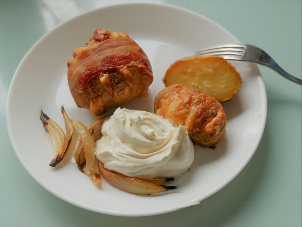 gratinierte Hasselback Kartoffeln