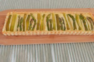 Spargeltarte backen