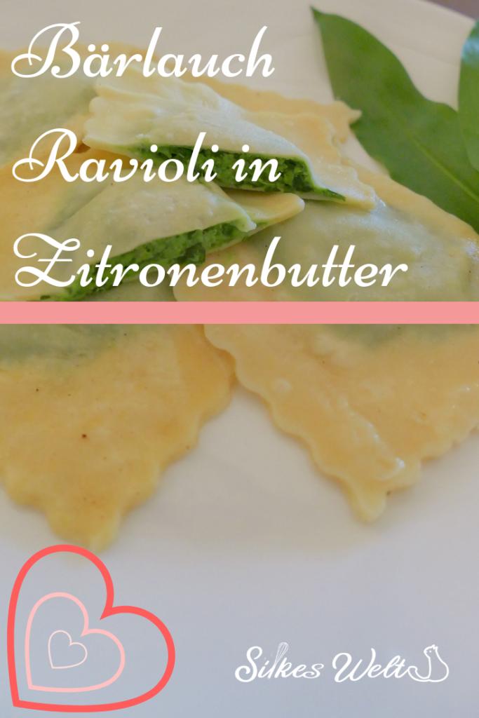 Bärlauch Ravioli in Zitronenbutter