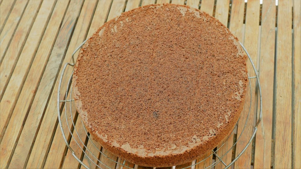 Tortenboden mit Schokolade