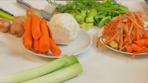 Zutaten für eine gesunde Suppe
