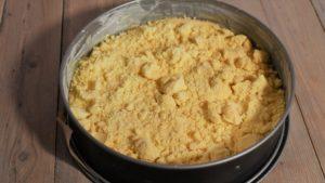 Streuselkuchen ungebacken
