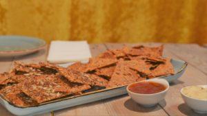 vegane Sauerteig Cracker