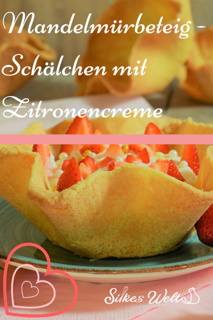 Mandelmürbeteig Dessert Schalen