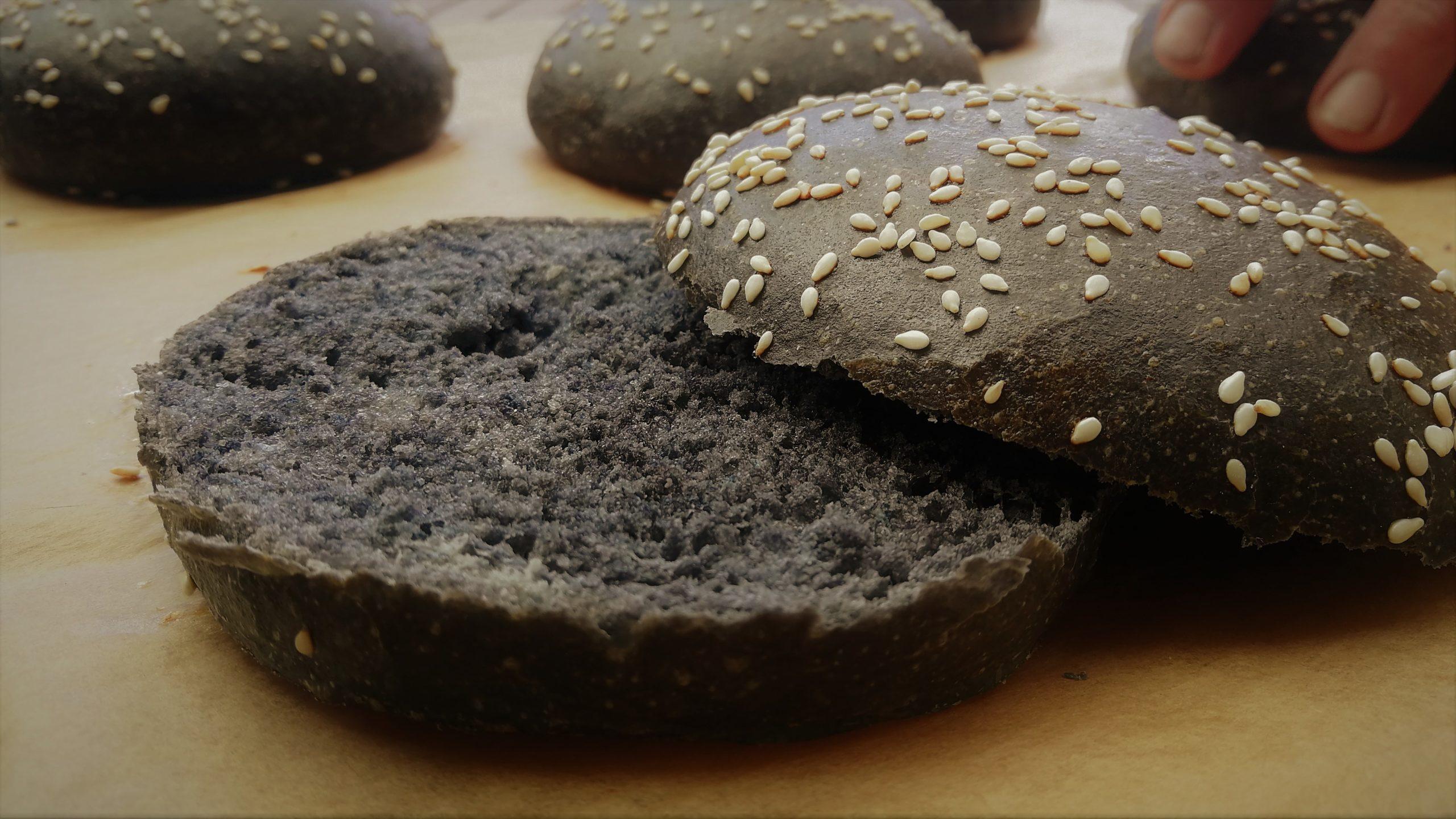 Schwarze Burger Buns
