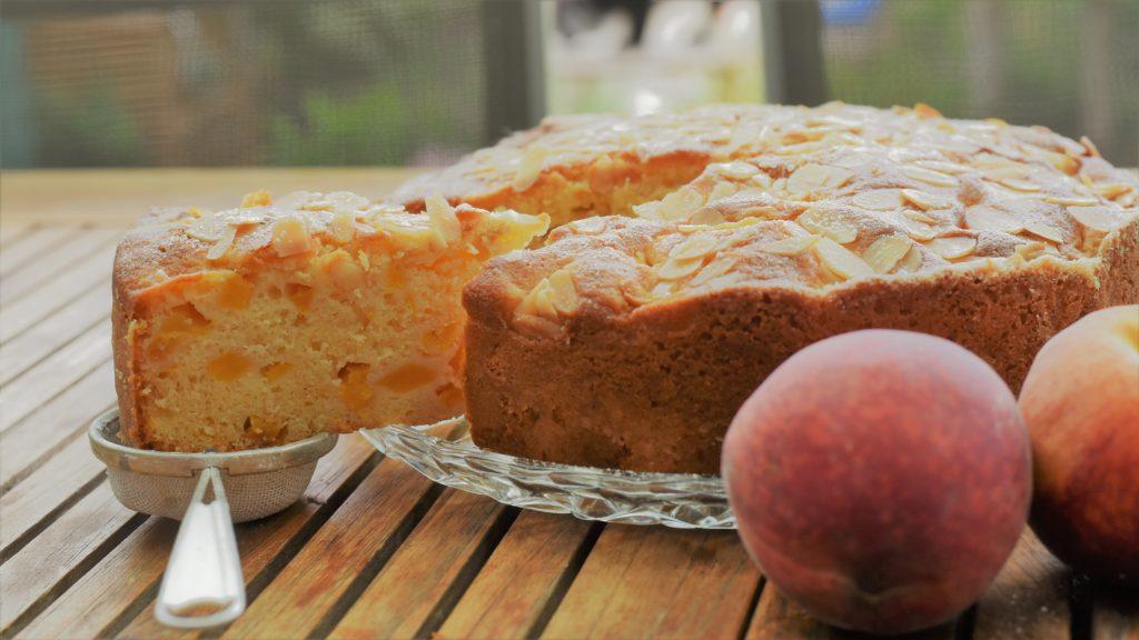 einfacher Pfirischkuchen