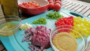 Zutaten für Salsa