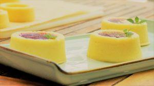 glutenfreies Käsekuchen Törtchen mit Zitrone