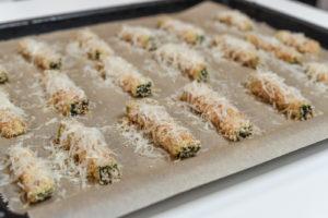 Zucchini-Sticks ungebacken