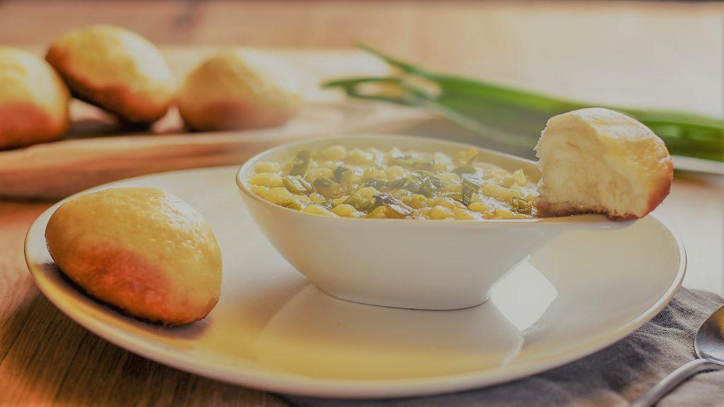 einfache vegane Lauch Suppe