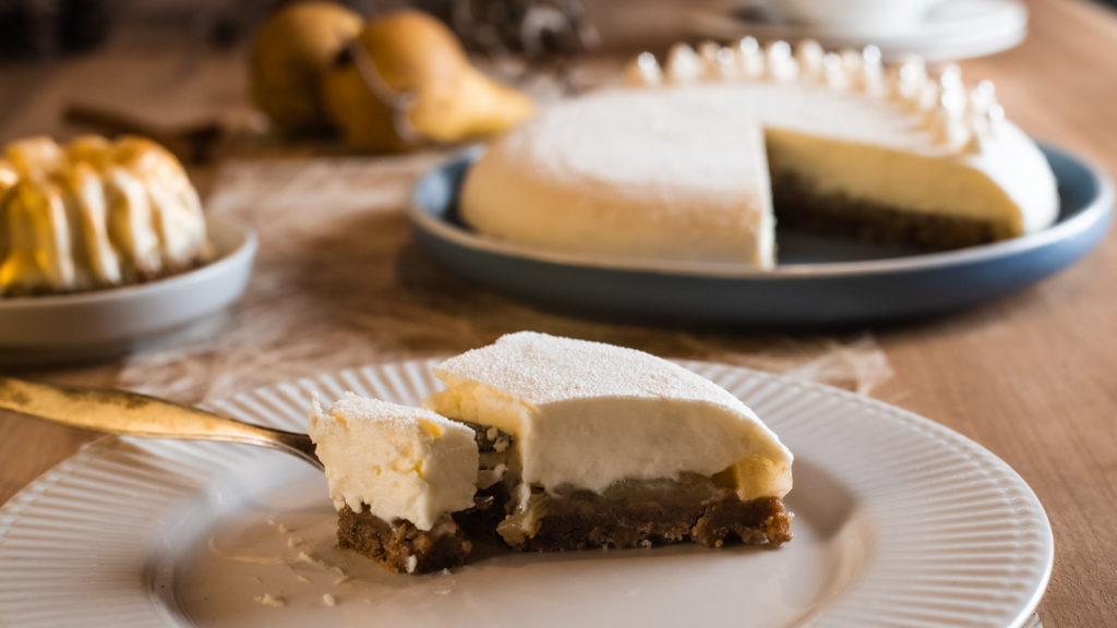 cheesecake mit Birnen