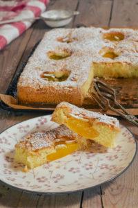 schneller Pfirsich Kuchen