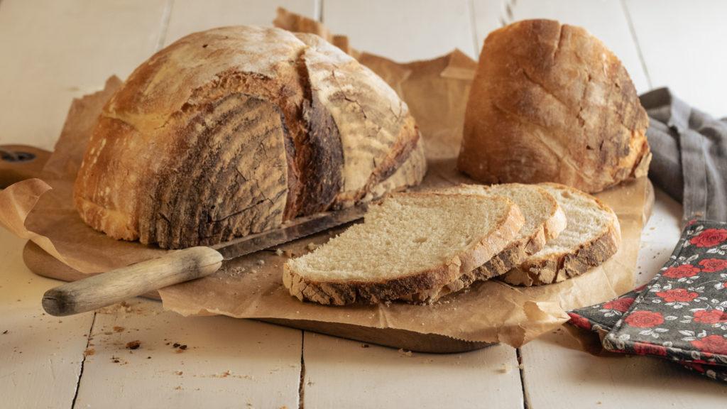 einfaches, veganes Rezept für Brot