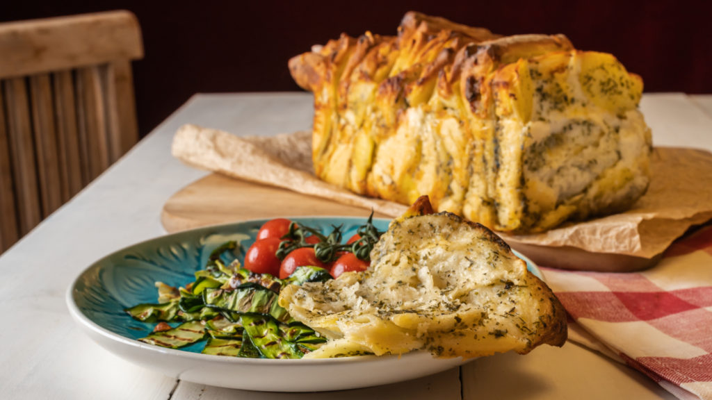 Brot mit Kartoffel vegan