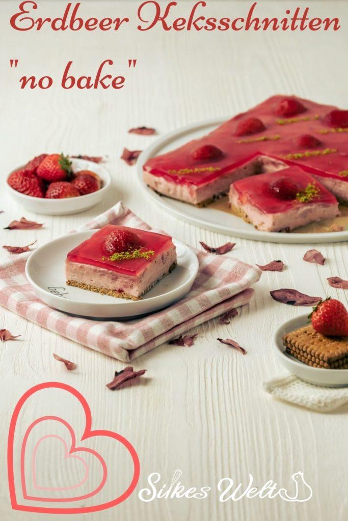 rezept für Erdbeer Keksschnitten