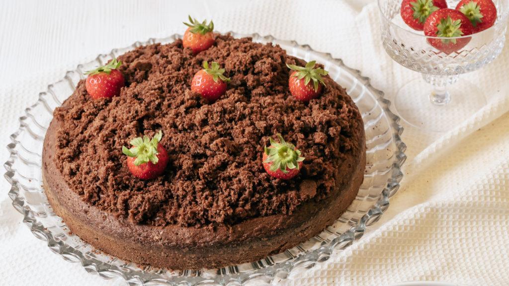 Maulwurfkuchen mit Erdbeeren Rezept
