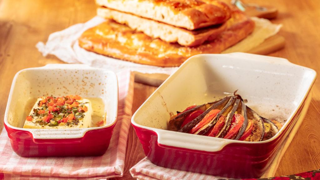 Hirtenkäse gebacken gegrillt