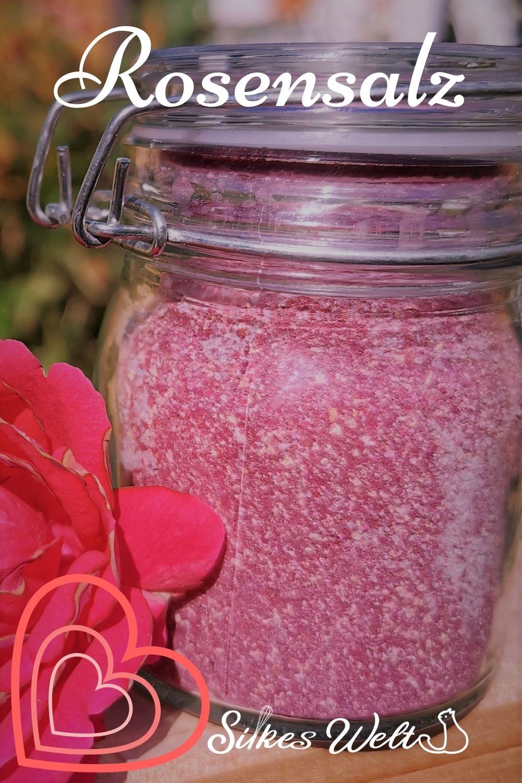 Geschenk aus der Küche Rosensalz