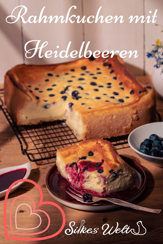 Rahmkuchen mit Heidelbeeren