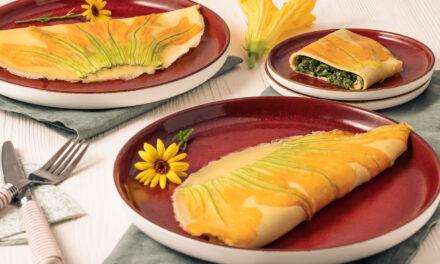 Pfannkuchen mit Zucchinibluete