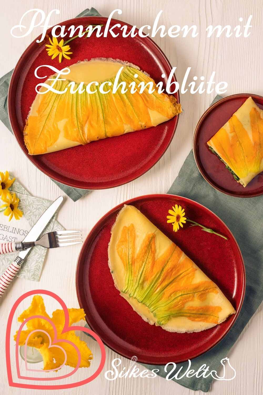 vegetarische Zucchiniblüte