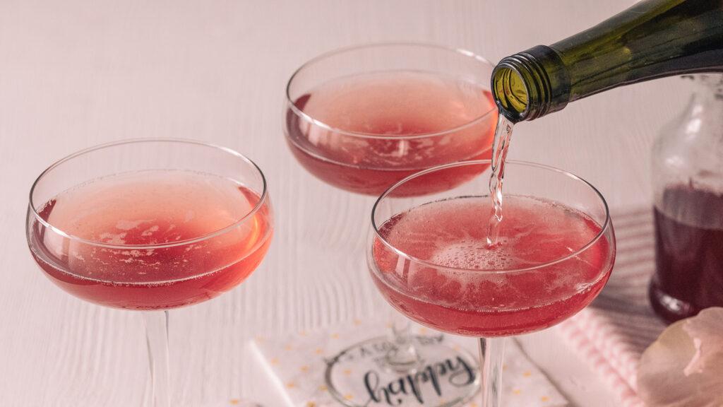 Johannisbeer-Sirup für Cocktails