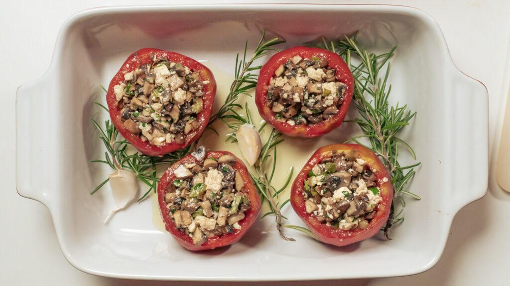 gefüllte Tomate Rezept vegan